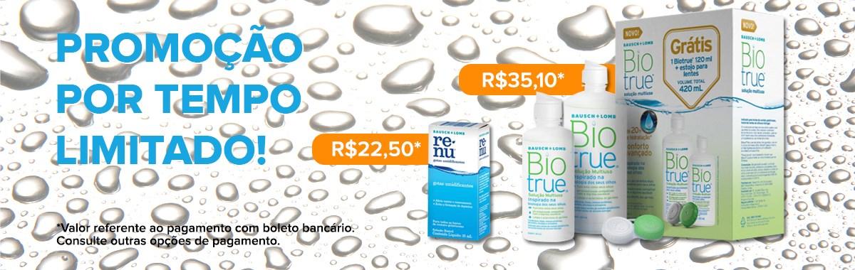 Promo Biotrue e Renu Gotas - LentesDeContato.com.br