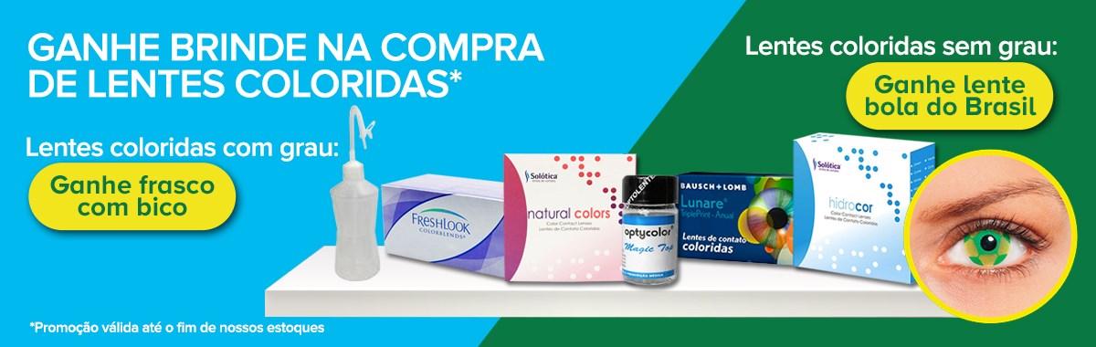 Brinde para lentes coloridas - LentesDecontato.com.br