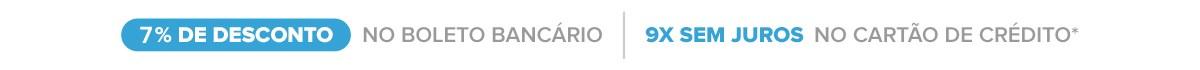 Ganhe 10% de desconto no boleto bancário ou até em 9x sem juros no cartão de crédito (parcela mínima de R$30,00 reais -  LentesDeContato.com.br